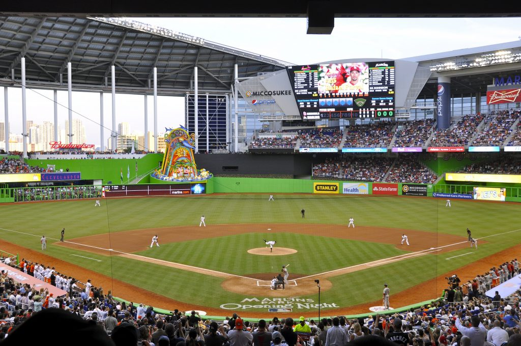 Marlins_First_Pitch_at_Marlins_Park,_April_4,_2012