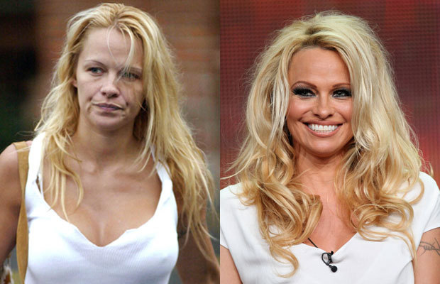 Pamela-Anderson-without-makeup-before-and-after