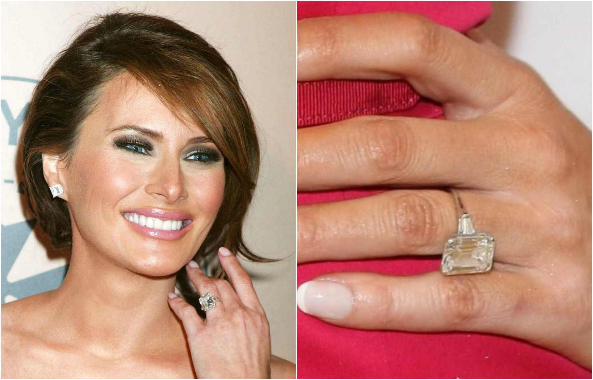 40 jaw dropping celebrity engagement rings page 9 of 39 for Melania trump wedding ring cost