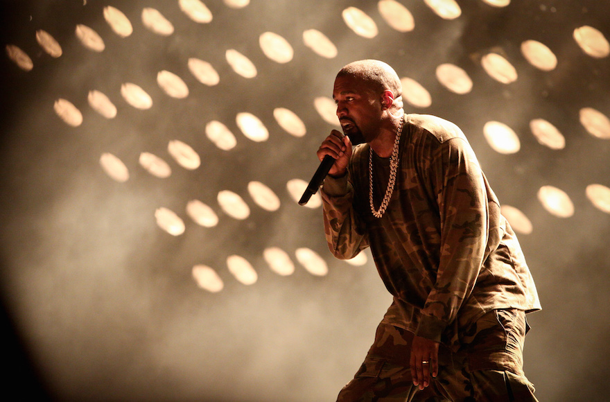 American artist Kanye West performs at the Ramat gan stadium, near Tel Aviv, Israel, on September 30, 2015. Photo by FLASH90