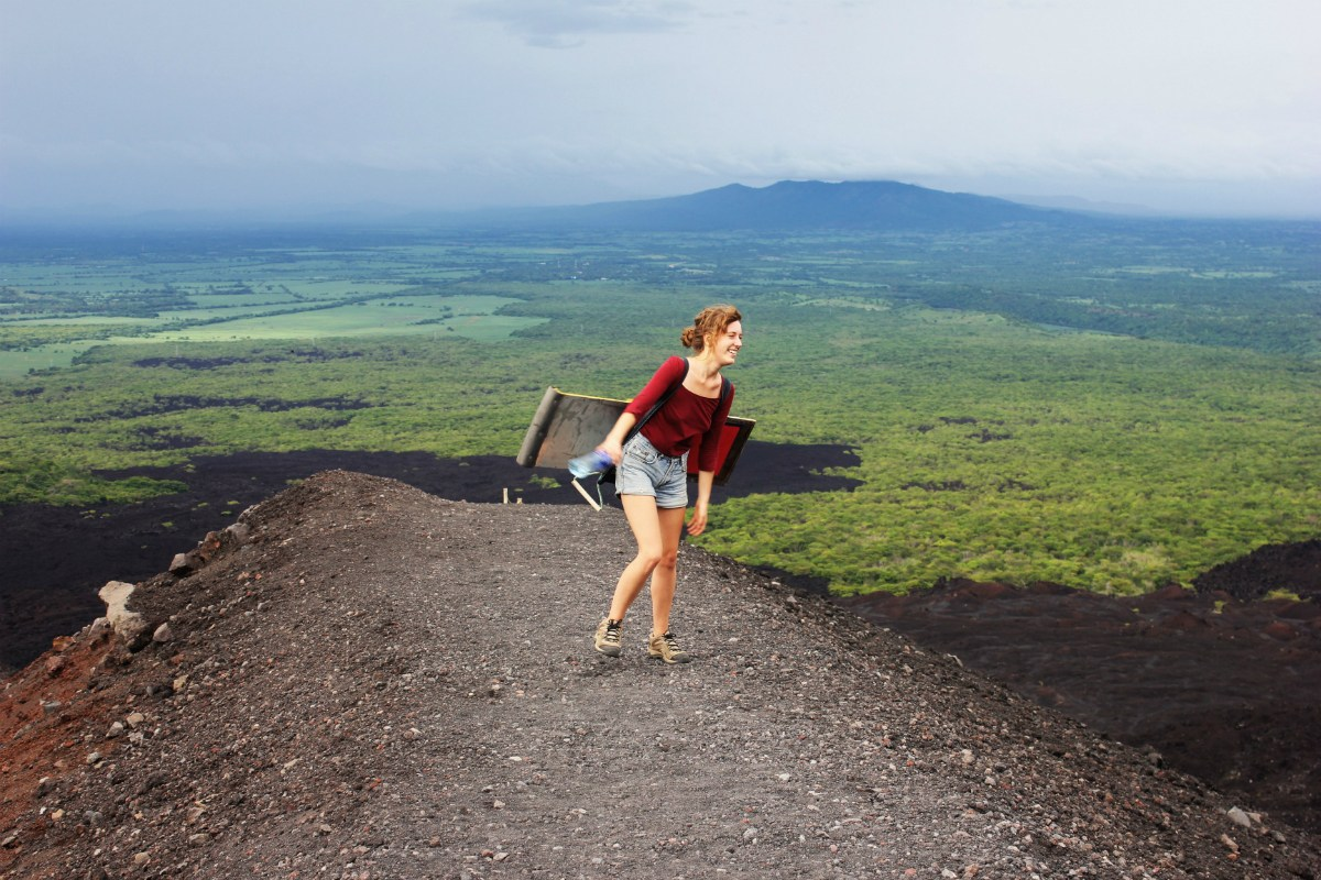 Charlie-silly-volcano-boarding-nicaragua-Charlie-on-Travel