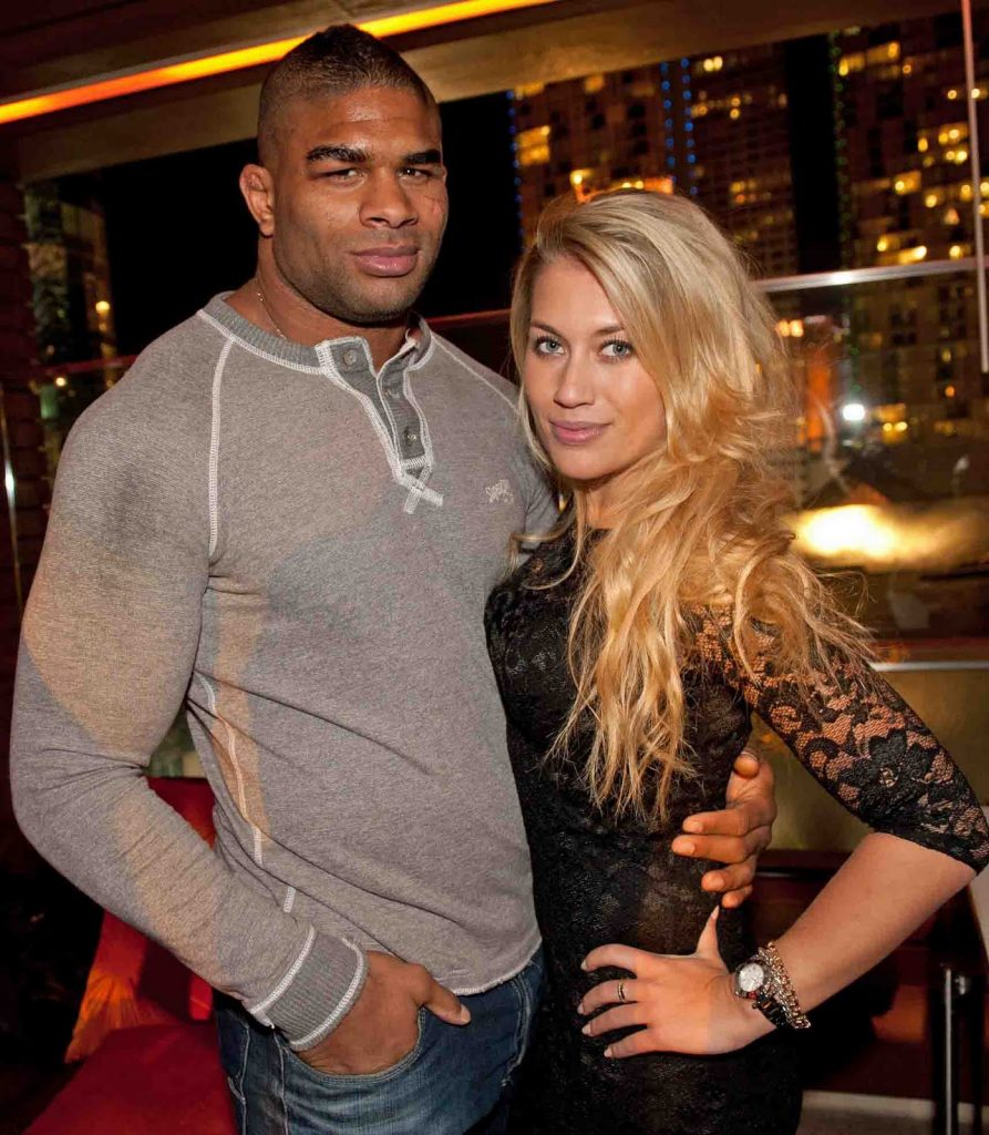 Alistair Overeem with beautiful, Wife Zelina Bexander